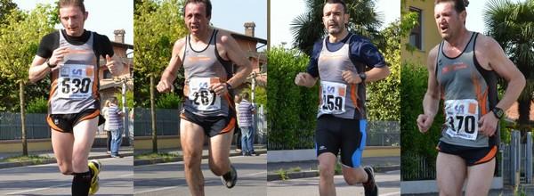 Andrea Cavalli, Silvano Treccani, Maurizio Boldori e Giulio Salvalai in azione a Carpenedolo, in rigoroso ordine di arrivo