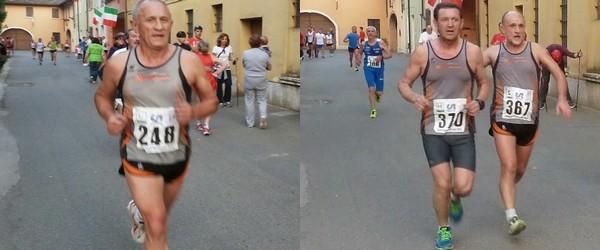 Il co-leader della Joinercup, Severo Pozzi, e Giulio e Sergio in azione a Prati di Calcinato