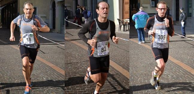Renato Lo Cicero, Gianfranco Guerrini e Andrea Cavalli in azione a Gargnano.