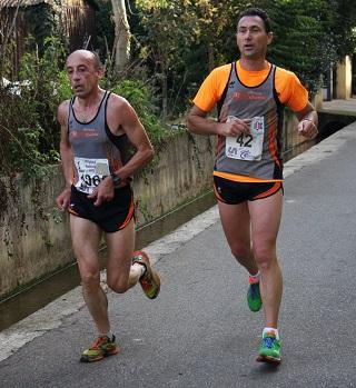 Sergio Brioni e Cristian sul traguardo di Prati di Calcinato